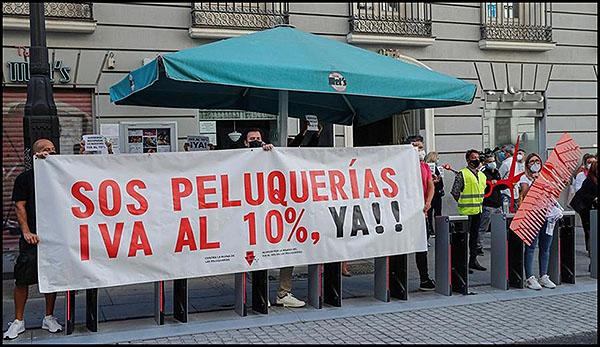 Las peluquerías y salones de estética de toda España se rebelan contra el injusto veto del PSOE a la restitución de su IVA reducido