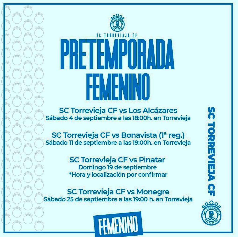 Pretemporada 2021/2022 SC Torrevieja CF Femenino